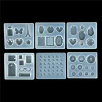 DIY Silicone Mold Resin Buttons Jewelry Making Mould Tool Pendant Epoxy