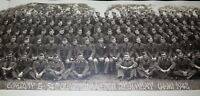 ".1942 WW2 HUGE PANORAMIC PHOTO US ARMY ""G COMPANY 54TH QUARTERMASTER REGIMENT"""