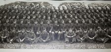 """.1942 WW2 HUGE PANORAMIC PHOTO US ARMY """"G COMPANY 54TH QUARTERMASTER REGIMENT"""""""