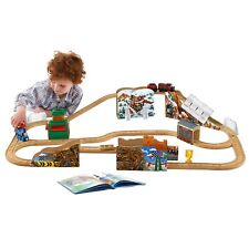 FISHER PRICE THOMAS & FRIENDS DUSTIN COMES IN FIRST WOODEN TRACK SET WOOD