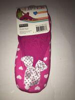 Blue Star fashion ballerina house slipper-S//M SZ 6-8-pink w hearts /& bow tie NEW