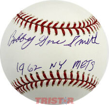 BOBBY SMITH SIGNED AUTOGRAPHED ML BASEBALL INSCRIBED 1962 METS TRISTAR