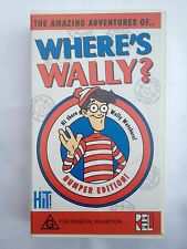 THE AMAZING ADVENTURES OF WHERE'S WALLY? ~ BUMPER EDITION ~ RARE VHS VIDEO