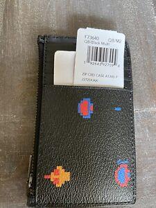 Coach Mens Front Pocket Wallet Atari Design