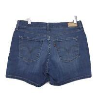"Levi's Stretch Denim Jean Shorts Womens Sz 8 Medium Blue Wash Red Tab 5"" Inseam"