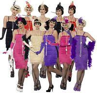 Ladies 1920s Flapper Costume Gatsby Fancy Dress Gangster Womens Charleston