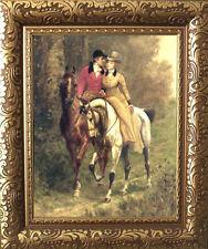 Sidesaddle Lovers Horse Print Vintage Styl Framed 11X13 Wedding Valentines 1