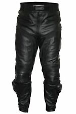 NEW MEN LEATHER MOTORCYCLE MOTORBIKE PANTS/TROUSERS  WAIST 32 TO 42 INCH
