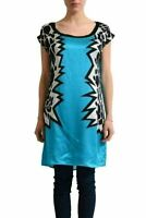 Versace Jeans 100% Silk Multi-Color Sleeveless Women's Tunic Blouse US M IT 42