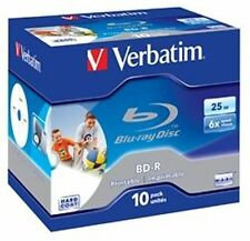 Verbatim BD-R 25GB/6X Blu-Ray - 10 pack Jewel Case - Inkjet Printable