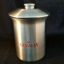 Gevalia Stainless Steel Canister By Vonpok & Lid Rubber Seal For Freshness