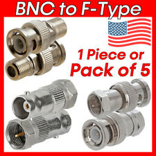 Bnc to F-Type Adapter Coax Coaxial Cable Connectors Type F Converter Coupler