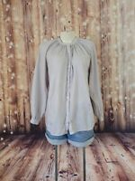 LUCKY BRAND Striped Button Front Shirt Long Sleeve Top Blouse Women's Size M