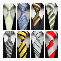 Men's Tie New Classic Striped Jacquard Woven Silk Business Party Wedding Necktie