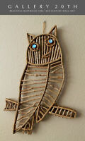 WOW! VTG MID CENTURY MODERN BENTWOOD OWL WALL ART! 60'S 50S ATOMIC DECOR HANGING