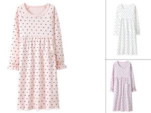 Girls Kids Children Pyjamas long sleeve Nightwear Cotton Night Dress Nightie