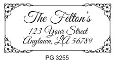 Pre Inked Custom made Personalized Address Rubber Stamp R120