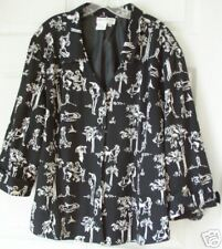 NWT NANCY BOLEN City Girl Black & White Blazer 24 W