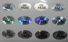 1000 pcs ( 10 sheet x 100pcs ) Oval QC PASSED Laser Label Stickers 10mm X 6mm
