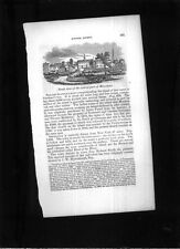 1840 ANTIQUE PRINT RIVERHEAD LONG ISLAND NEW YORK NR