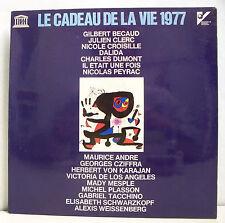 33T CADEAU DE LA VIE 1977 Disque LP BECAUD CROISILLE DALIDA VON KARAJAN CZIFFRA