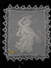 Filet figura classica con pizzo uncinetto Cm. 25x21 (160) Crochet Doily B12 ^