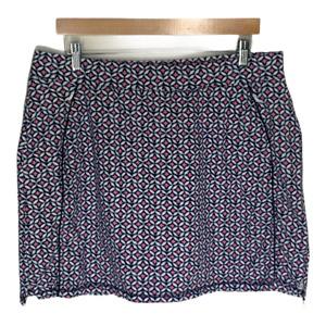 Talbots Womens Skort Plus Size 2X Skirt Pink Blue Pockets Activewear Athletic