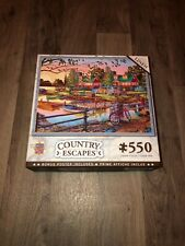 AWAY FROM IT ALL jigsaw puzzle w/ poster 550 Master Pieces LINEN Finish, Country