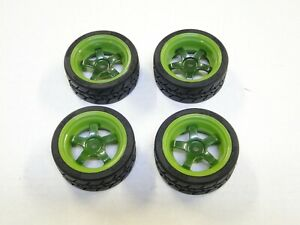 NEW HPI RS4 SPORT 3 Wheels & Tires Spec-Grip 26mm Work Meister S1 GREEN HH13M