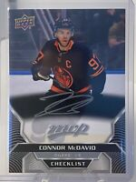 2020-21 Upper Deck MVP Checklist Silver Script Connor McDavid #250