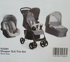 Hauck Shopper SLX Trio Set 3in1 Kinderwagen - Stein/Grau