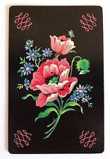 VINTAGE SWAP PLAYING CARD. ANTIQUE ROSE & DAISY DESIGN. GILT EDGE ARRCO