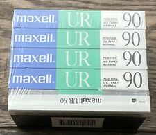 Maxell UR90 Cassette Tapes 5 Pack IEC Type I Normal NOS