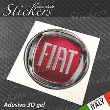 1 Adesivo Stickers Logo FIAT dal 2007 resinato 3D 35 mm auto
