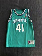 Vintage 90s Champion NBA Charlotte GLEN RICE Jersey Size: YOUTH M 10-12