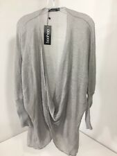 BOOHOO PLUS WOMEN'S ISABELLE WRAP FRONT KNITTED JUMPER GRAY UK:20/US:16 NWT $40