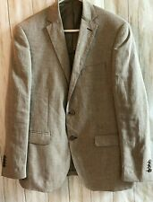 OVS Men's Linen Khaki Tan Blazer Sports Coat Size EU 50