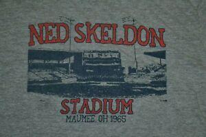 Retro Toledo Mud Hens Ned Skeldon Stadium Maumee OH T Shirt Medium Jupmode Nice