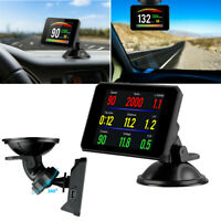 P16 OBD2 Digital 3.9'' HUD Head-up Display Rotatable Suction Cup Bracket Style