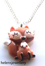 GORGEOUS HANDMADE CUTE FOX NECKLACE + FREE GIFT BAG