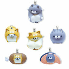 Kawaii Cell Phone Charm Strap Squishy Chubby Tabby Cat Fat Shiba Inu Dog Figure