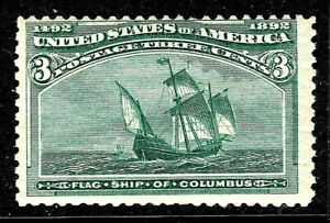 [P]    US #232 MNH 1893 Classic 3c 'Columbian Exposition' Stamp...Ships Free