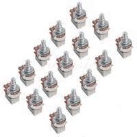 15pcs A500k Push Pull Guitar Control Pot Potentiometer Splift Shaft:6mm