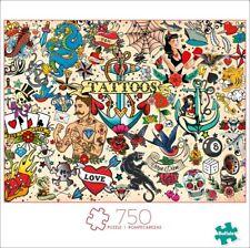 NEW Buffalo Games Art Of Play 750 Piece Tattoopalooza Jigsaw Puzzle SHIPS FREE!