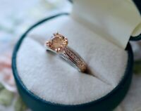 Antique Jewellery Gold Ring Champagne and White Sapphires Vintage Jewelry Size P