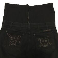 COH Citizens of Humanity Black Jeans Bootcut Skull Bunny Pockets Sz 32 J5