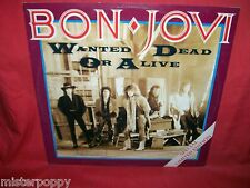 """BON JOVI Wanted dead or alive 12"""" 45rpm LP 1987 HOLLAND MINT- Special Limited Ed"""