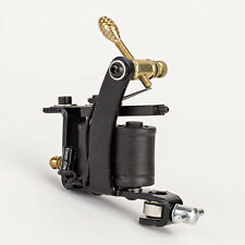 NEW Classic Black Tattoo Machine Gun W/ Set of 10-Wrap Coils for Liner or Shader