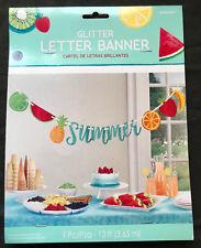 Hawaiian Summer Glitter Ribbon Banner Luau Party Banner Party Decoration 3.65m