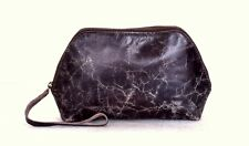 Leather Cosmetic Pouch Genuine Leather Pouch Leather Wallet Travel Pouch